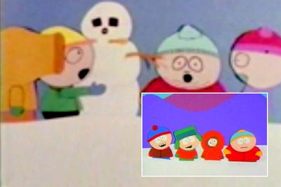 It's a truly bizarre experience to watch <i>The Spirit of Christmas</i>, the 1992 short film that introduced prototype versions of Matt Stone and Trey Parker's characters (while Kenny still gets killed, he looks like Cartman). <br/><br/>Stone and Parker remade <i>The Spirit of Christmas</i> in 1995 (inset) with characters who resemble their modern-day counterparts, and it's this version that landed them their own TV show.
