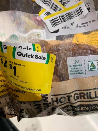 Woolworths quicksale $1 chicken