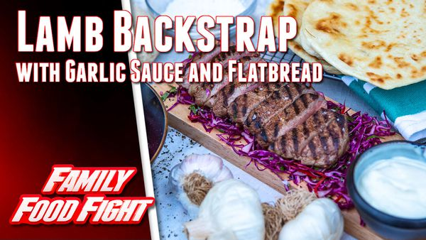 Pluchinotta's Lamb Backstrap with Garlic Sauce and Flatbread