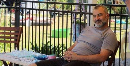 The devoted father-of-six was whisked away by Egyptian security minutes after touching down in Egypt.