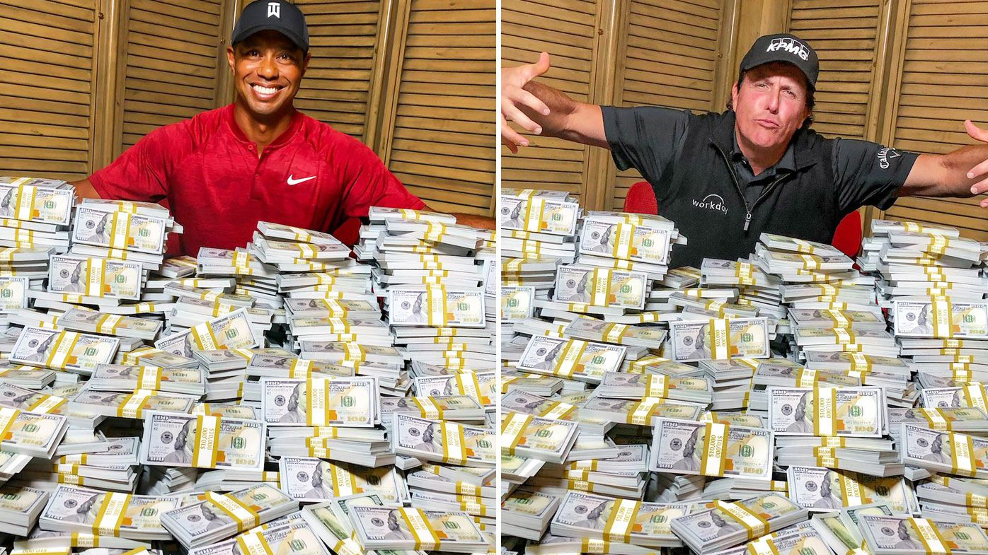 Tiger and Phil with the $9 million