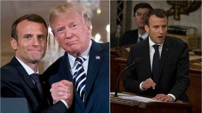 Macron turns on Trump and rips apart his agenda