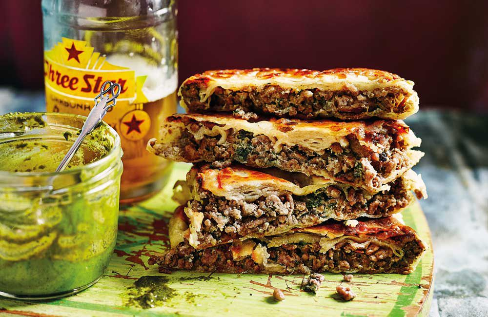 Anjum Anand's Mumbai roadside hot lamb sandwich_recipe