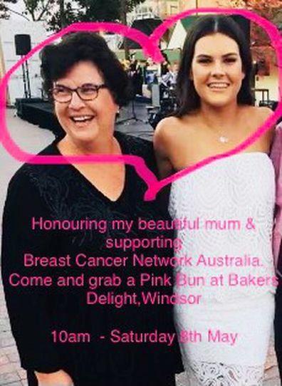 Sophie Brisbane Lions mother breast cancer fundraiser