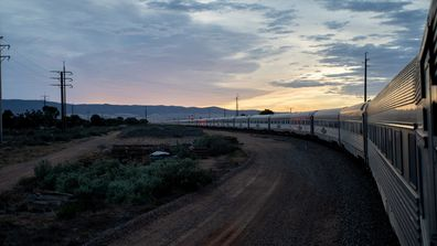 The Ghan at sunrise