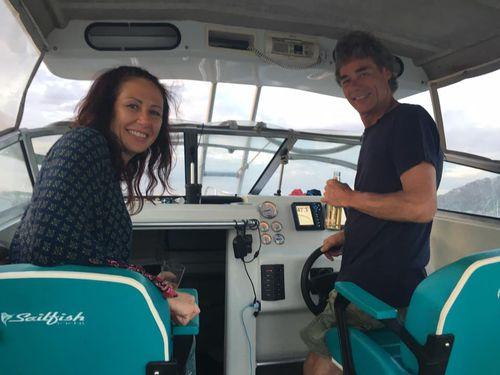 Ms Latta and her partner Geoff Robson-Scott. (Facebook)