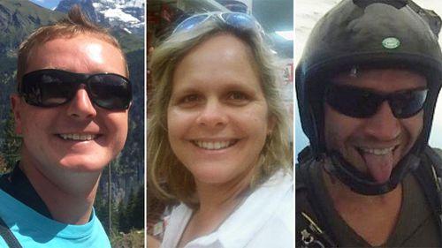 Victims Peter Dawson, Kerri Pike and Peter Dawson. (Facebook/Toby Turner/Acromanic Dawson)