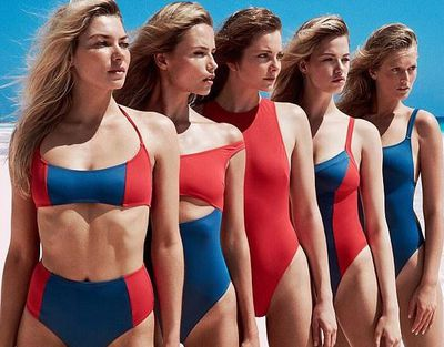 "<p>Well if 13 supermodels looking as hot as hell doesn't convince you to buy one of these swimsuits nothing will.</p> <p>In a very smart move, swimwear brand <a href=""https://www.solidandstriped.com/"" target=""_blank"" draggable=""false"">Solid & Striped</a> have enlisted the help of the likes of <a href=""https://style.nine.com.au/2017/04/24/11/31/style_space-buns-hottest-hairtrend-at-coachella"" target=""_blank"">Jess Hart</a>, Lily Aldridge, Toni Garrn, Natasha Poly and Carolyn Murphy for their latest collection, Swim Team. That's one swim team everyone would like to be on.</p> <p>The cult favourite brand asked the models not only to star in the campaign but each design a swimsuit for the highly-anticipated collection. </p> <p>Solid & Striped founder Isaac Ross says he wanted to call upon women who know a thing or two about beachwear.</p> <p>""I wanted to work with women who had a perspective on bathing suits and had spent parts of their career modelling bathing suits and sort of reimagine the model/brand dynamic,"" he tells.</p> <p>""I wanted to change the model/brand dynamic and empower these women by putting the creative process into their hands. We looked for team members with opinions, ideas and creativity.""</p> <p>There is something to suit everyone in the collection, shot in the Bahamas by Bjorn Iooss, and styled by former editor-in-chief of Vogue Paris Carine Roitfeld, with styles ranging from sporty one-pieces, to a strapless mallot to a string bikini.</p> Take a look."