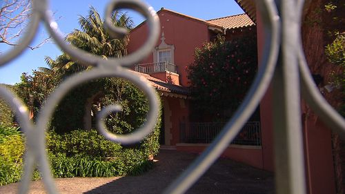 The ornate home is set behind wrought iron gates. (9NEWS)