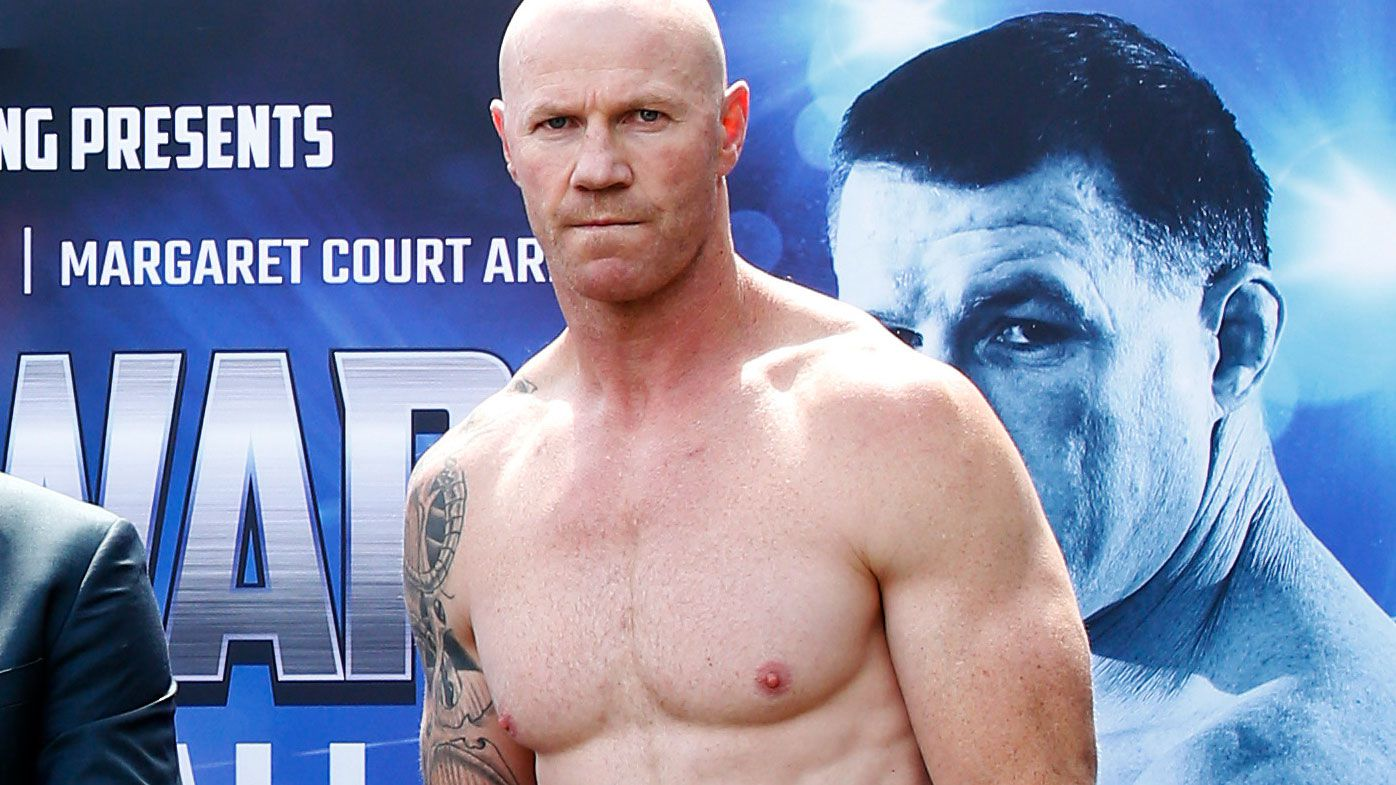 Barry Hall has impressed with his lean physique ahead of his fight with Paul Gallen