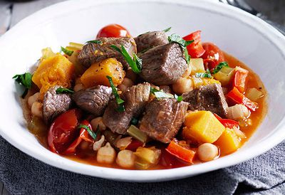 Lamb, chickpea and pumpkin stew