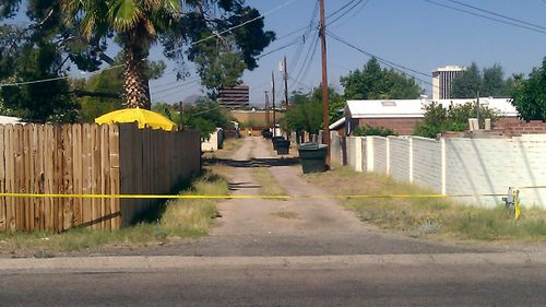 A file photo of the an alley path behind the street where six-year-old Isable Celis went missing.
