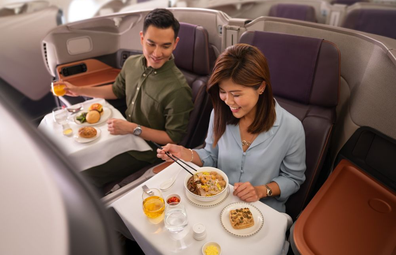 Singapore Airlines dining experience