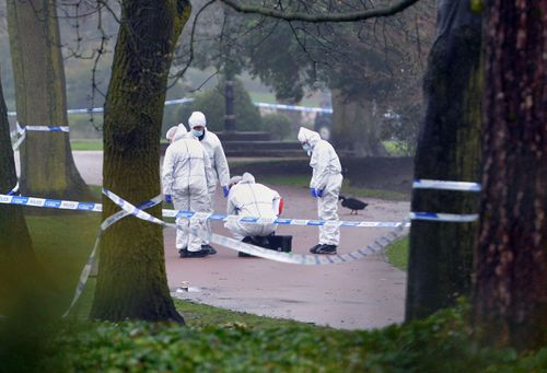 Forensic police scoured the scene at West Park when Tori's body was found on April 12. (AAP)