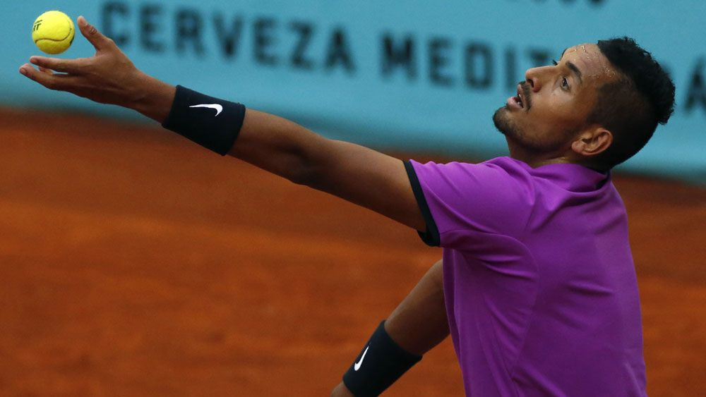 Erratic Nick Kyrgios sent packing in Lyon