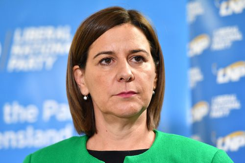 Queensland LNP Leader Deb Frecklington welcomes the new law changes over road rage incidents (AAP Image/Darren England)