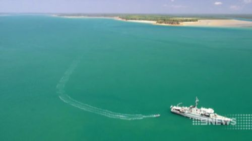 The sailor had been taking part in war games off the Northern Territory. (9NEWS)