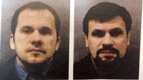 Alexander Petrov and Ruslan Boshirov are charged in absentia with conspiracy to murder, attempted murder and use of the nerve agent Novichok.