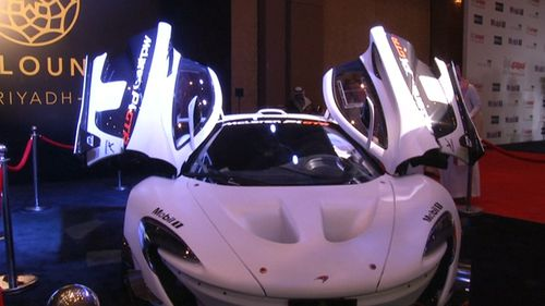 Some of the world's most expensive cars were on display in Saudia Arabia.