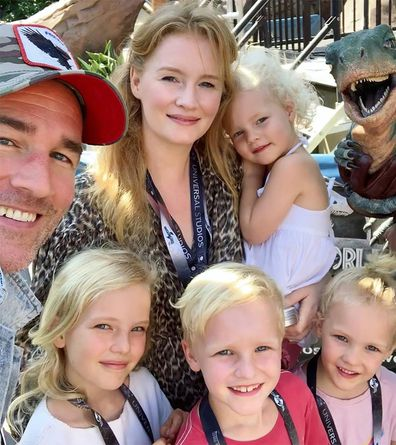 James Van Der Beek, family, Kimberly Brook