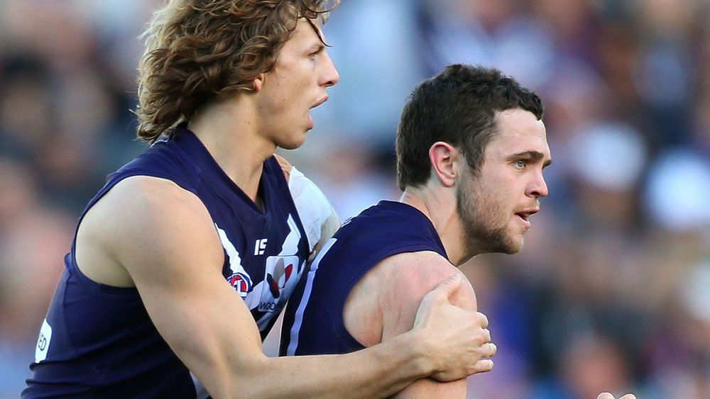 Hayden Ballantyne has denied reports of a rift with Nat Fyfe at Fremantle. (Getty Images)
