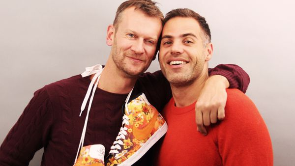 Fashion editor Damien Woolnough and lawyer Adam Russoniello will walk from Sydney to Brisbane for marriage equality.