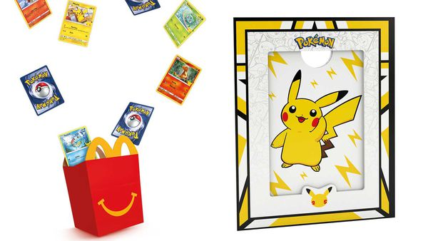 McDonald's Australia Pokemon Happy Meal collectors cards and picture frame