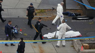 """Saipov shouted """"Allahu Akbar"""", leading the FBI to conclude his attack was terror-related that killed eight people and seriously injured 11 others. (AP)"""