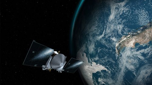 NASA also sent a smaller spacecraft, OSIRIS-Rex, into orbit in 2016 to land on the asteroid to map it and take samples for researchers. Picture: AAP.