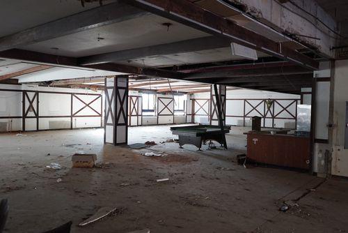 An abandoned billards room. (Matt Nelson)
