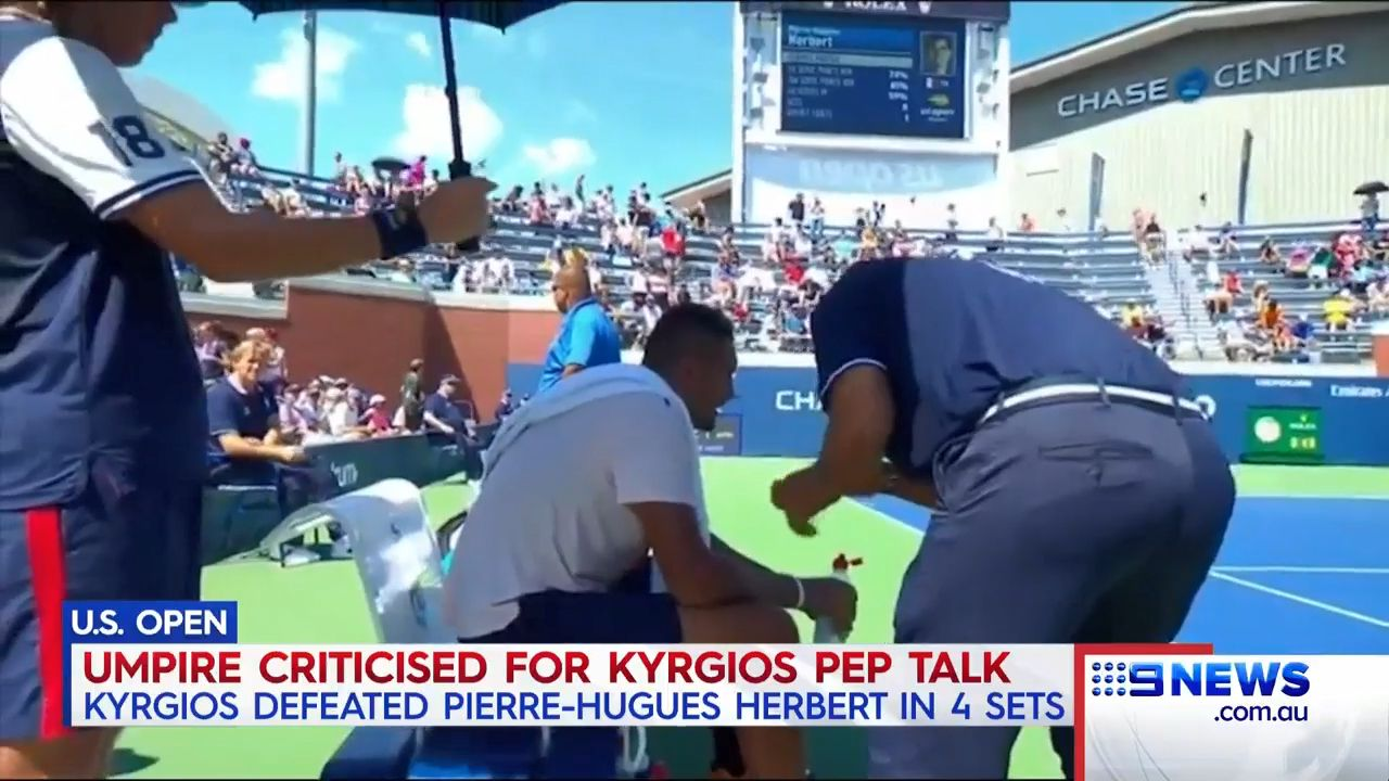 Nick Kyrgios rows with umpire in surprise Shanghai Masters exit