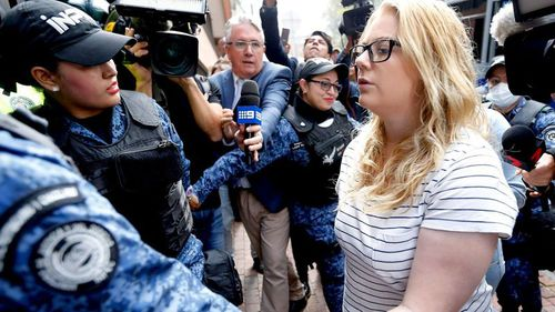 Cassie Sainsbury has spoken to the Kyle and Jackie O Show from her Colombian prison cell. (AAP)