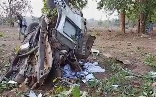 Maoist rebels attacked a convoy of India's ruling Bharatiya Janata Party with an improvised explosive device as it traveled through the central Indian state of Chhattisgarh, killing a state party lawmaker and four others in his vehicle, police said.