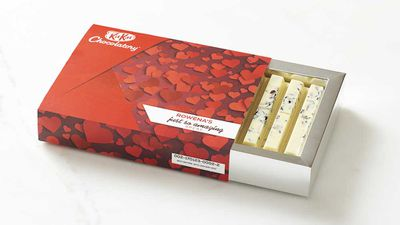"""Personalise your love with bespoke KitKat bars at Melbourne's Kitkat Chocolatory - RRP $15<br /> <a href=""""https://www.kitkat.com.au/"""" target=""""_top"""">Kitkat Chocolatory</a>"""