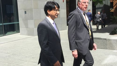 Mr Rayney leaving a court hearing earlier this year (AAP)