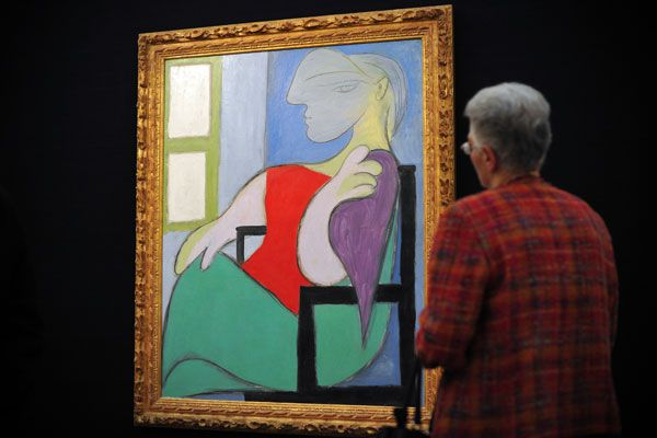"Picasso's 1932 work ""Femme assise pres d'une fenetre"" . (Getty)"
