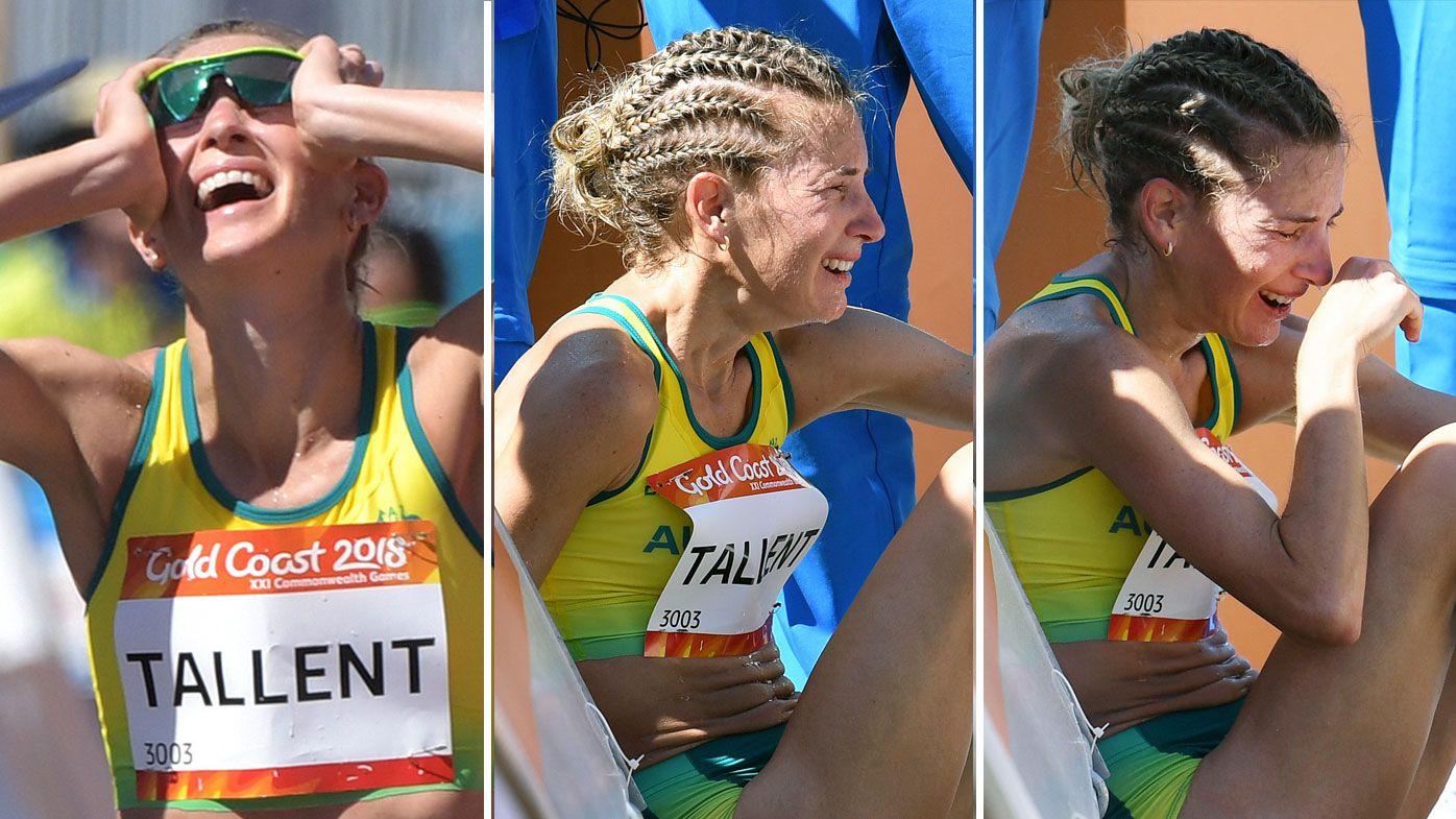 Australia's Claire Tallent heartbroken after women's 20km walk disqualification while Jemima Montag wins gold