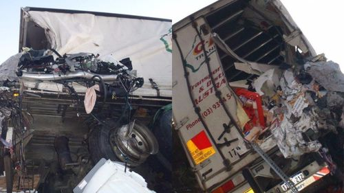Truck driver in serious condition after crashing into parked road train east of Perth