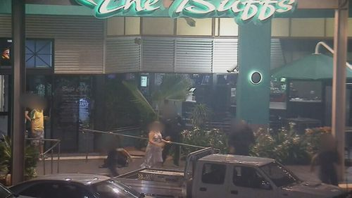 The attack was captured on CCTV. (Queensland Police)