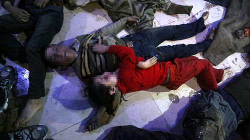 The offensive in Ghouta has been one of the deadliest in the seven-year Syrian war, killing more than 1600 civilians. Picture: AAP.