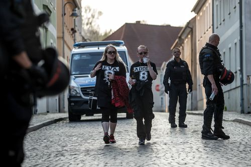 The neo-Nazi festival has drawn significant criticism from Germany and around the world. (AAP)