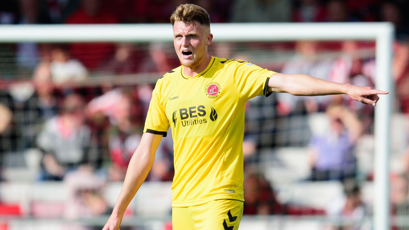 Harry Souttar playing for Fleetwood Town