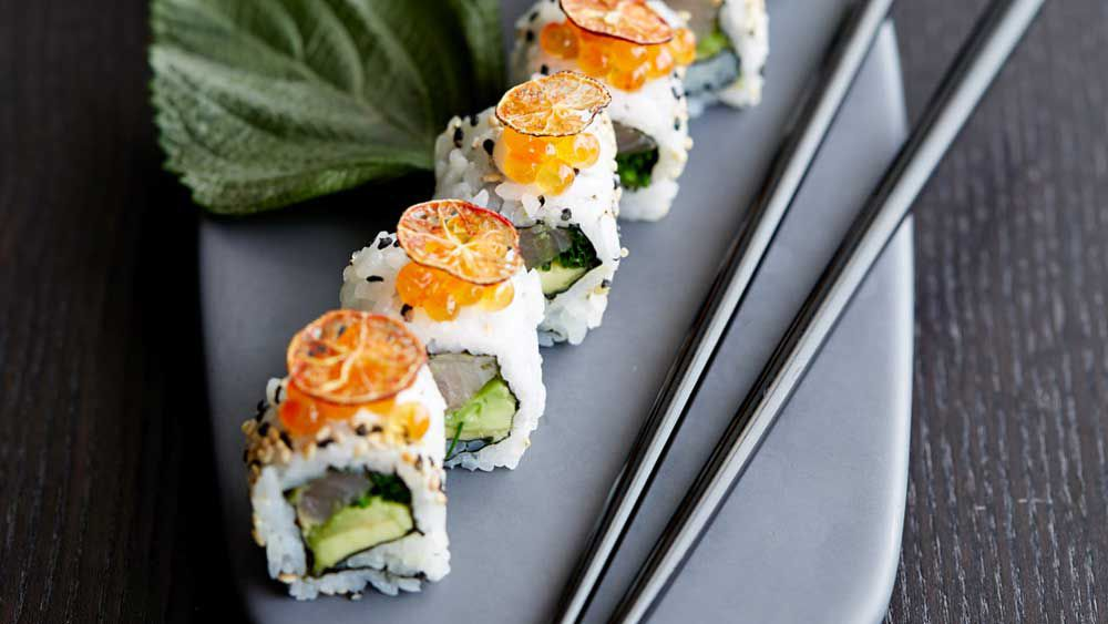 Kingfish maki roll fillings