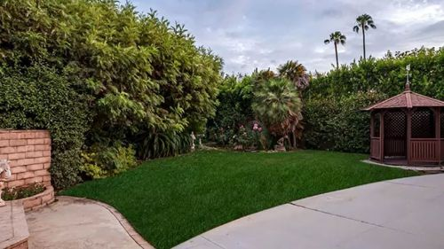 The manicured backyard is sure to be a hit with the new owner. Picture: Supplied