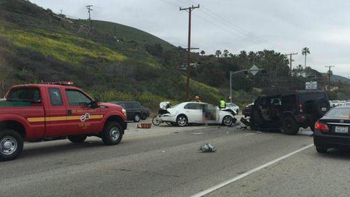 Bruce Jenner involved in a fatal crash in California. (Twitter/AlohaKendama)