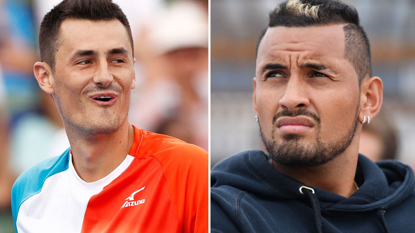Tomic takes aim at Kyrgios