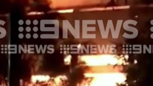Firefighters were called to the Newcastle factory last night. (9NEWS)