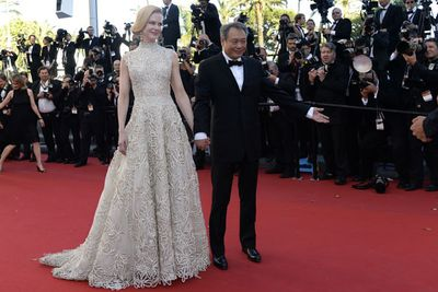 Nic posed with fellow jury member Ang Lee and aced it in lace courtesy of Valentino.