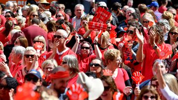 More than 3000 teachers rallied in Adelaide today.