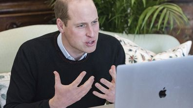 Prince William on a video call